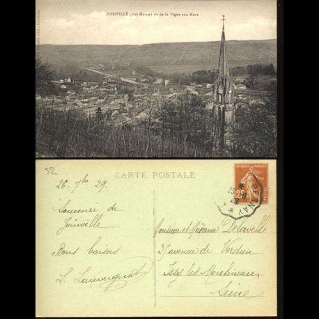Carte postale 52 - Joinville - Vu de la Vigne aux Murs