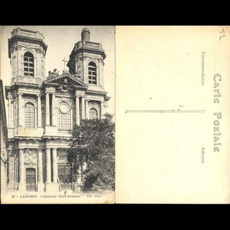 Carte postale 52 - Langres - Cathédrale Saint Mammes