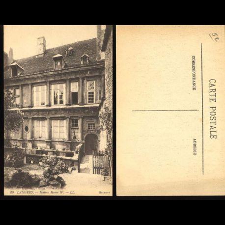 Carte postale 52 - Langres - Maison de Henri IV