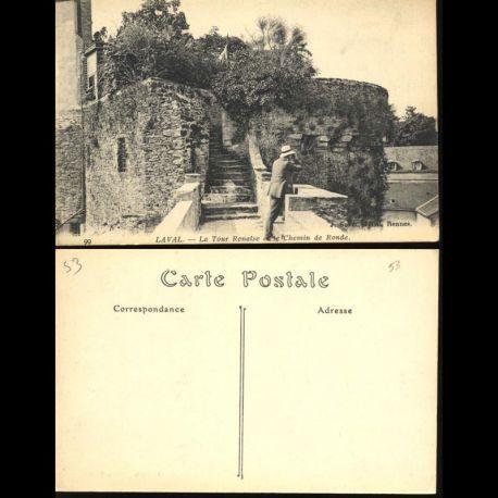 Carte postale 53 - Laval - La tour Renaise et le chemin de ronde