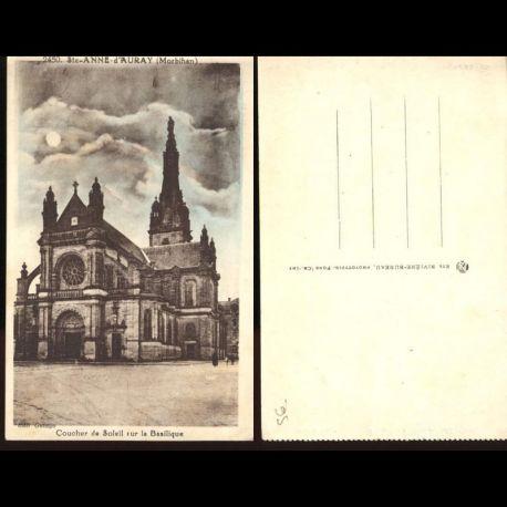 56 - Sainte Anne d'Auray - Coucher de soleil sur la basilique