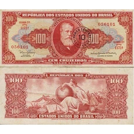 Billet de collection Bresil Pk N° 185 - 100 Cruzeiros