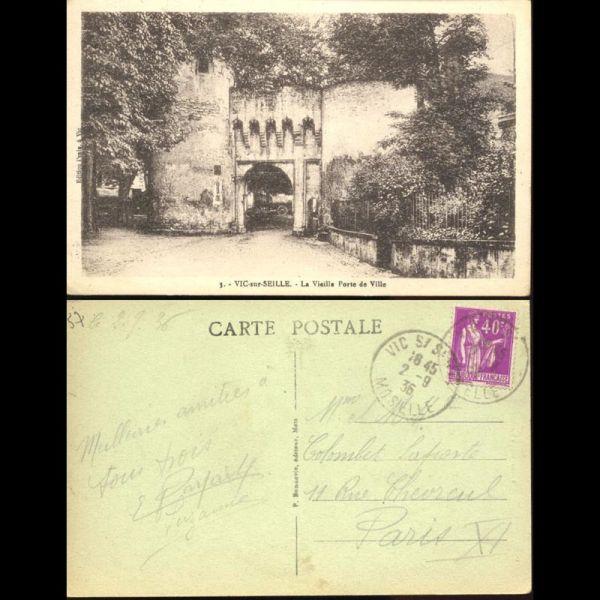 Carte postale 57 vic sur seille la vieille porte de ville for Porte carte postale sur pied