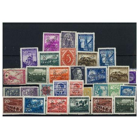 Lubiana - 10 verschiedene Briefmarken