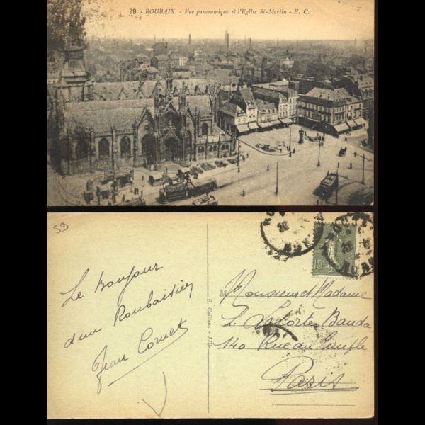 59 roubaix vue panoramique et l 39 eglise saint martin - Immo saint martin roubaix ...