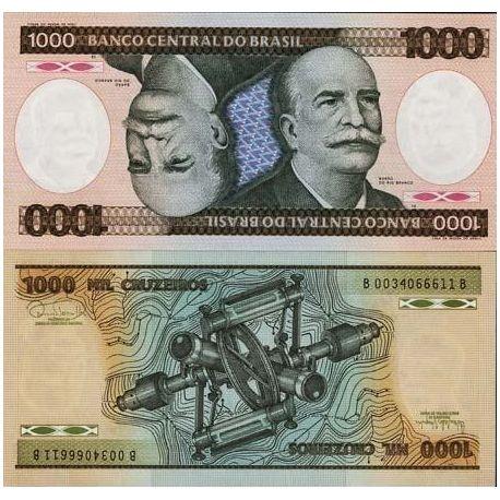 Brazil - Pk # 201 - ticket 1000 Cruzeiros