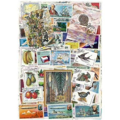 Madagaskar - 50 verschiedene Briefmarken