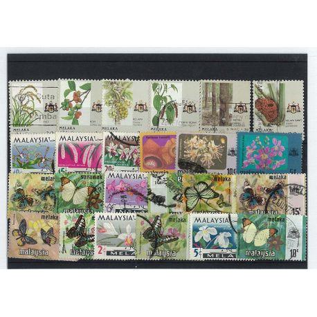 Malacca - 10 verschiedene Briefmarken