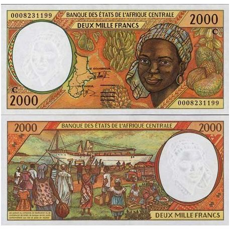 Congo Central African Repu - Pk # 103 - ticket 2000 Francs