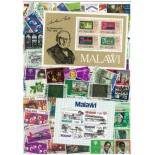 Used stamp collection Malawi