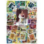 Sammlung gestempelter Briefmarken die Malediven