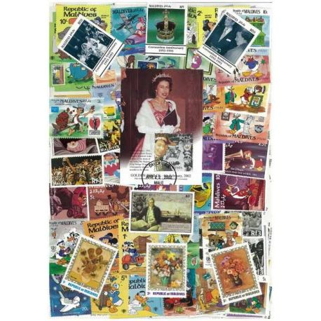 Malediven - 50 verschiedene Briefmarken