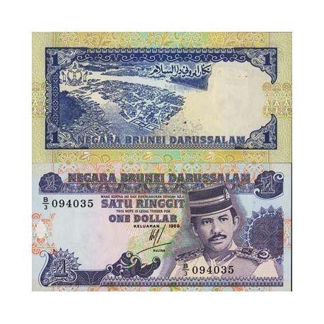 Billets banque Brunei Pk N° 13 - 1 Ringgit