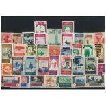 Spanische Sammlung gestempelter Briefmarken Marokko