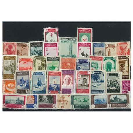 Maroc Espagnol - 10 timbres différents