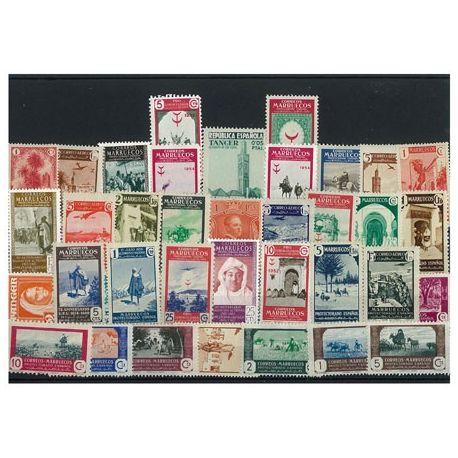 Marokko Spanisch - 10 verschiedene Briefmarken