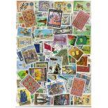 Sammlung gestempelter französischer Briefmarken Marokko
