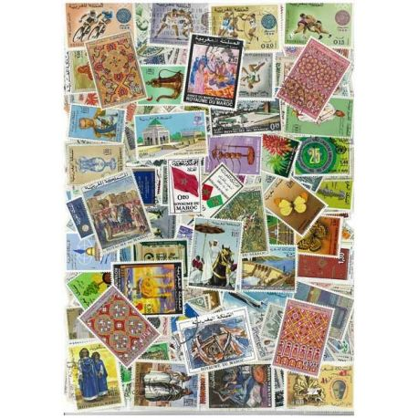 Marokko Spanisch - 25 verschiedene Briefmarken