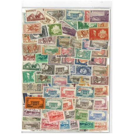 Collection de timbres Martinique oblitérés