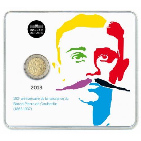 France - 2 Euro commémorative - 2013 P. de Coubertin