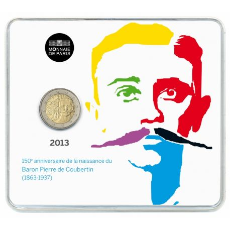 France - 2 Euro commémorative - 2013 P. de Coubertin