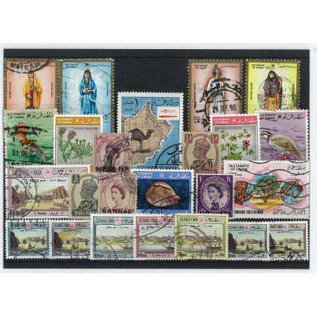 Collection de timbres Mascat Et Oman oblitérés
