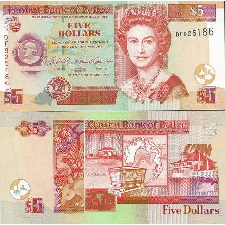 Belize - Pk N° 67 - Billet de 5 Dollars