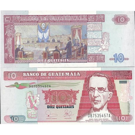 Billets de collection Billets de collection Guatemala Pk N° 107 - 10 Quetzal Billets du Guatemala 6,00 €