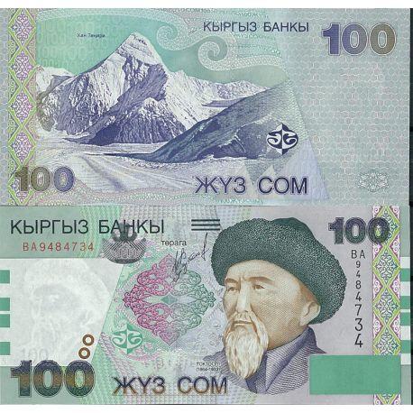 Billets de collection Kirghizstan Pk N° 21 - 100 Som