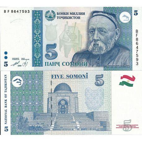 Tadjikistan - Pk N° 15 - Billet de 5 Somoni