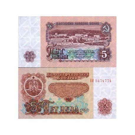 Billet de banque Bulgarie Pk N° 95 - 5 Leva