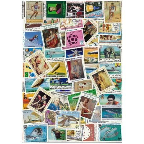 Mauritanie - 25 timbres différents