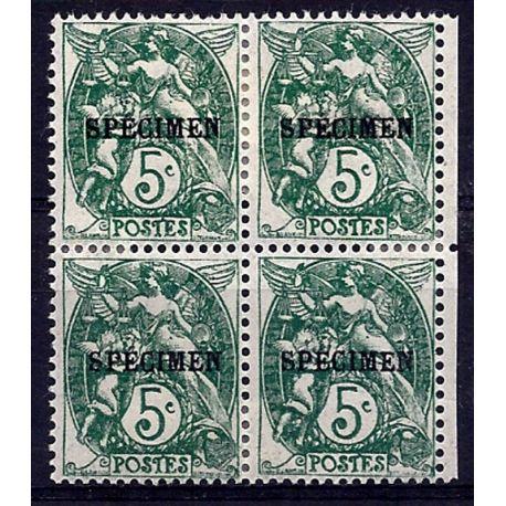 Timbre France - CI N° 111- 1 en bloc de 4 - Neuf *