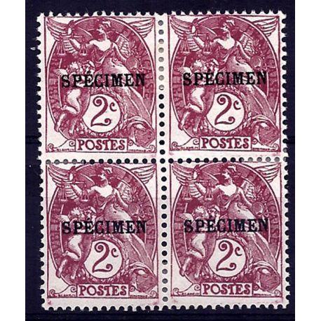 Timbre France - CI N° 108- 3 en bloc de 4 - Neuf *