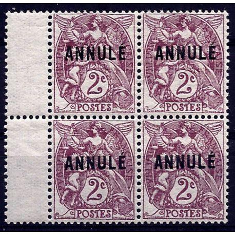Timbre France - CI N° 108- 1 en bloc de 4 - Neuf **