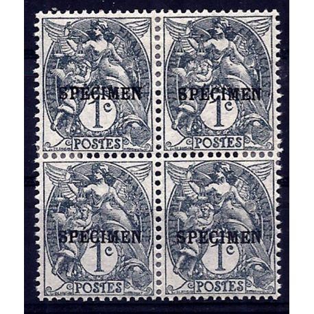 Timbre France - CI N° 107a- 3 en bloc de 4 - Neuf *