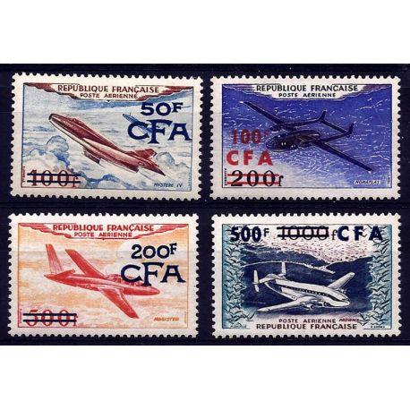 CFA (Réunion) PA N° 52/55 Neufs sans charnière