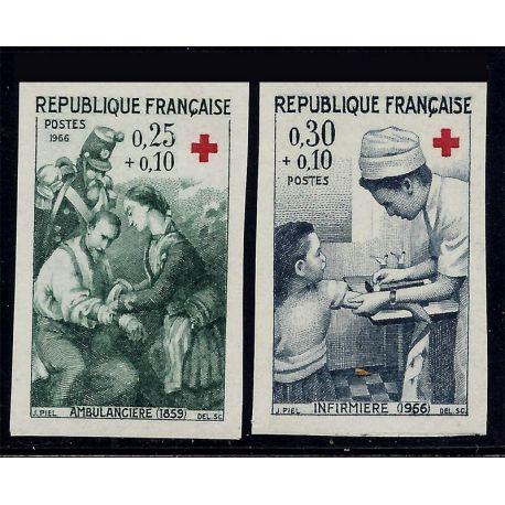France : N° 1508/1509 - Non dentelés - **