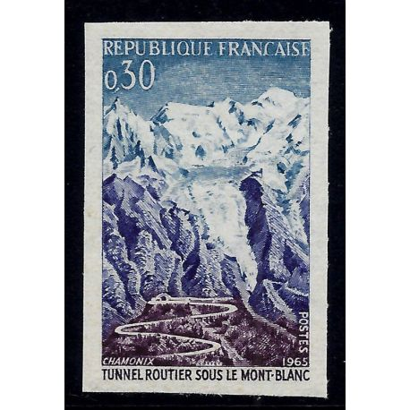 France : N° 1454 - Non dentelés - **