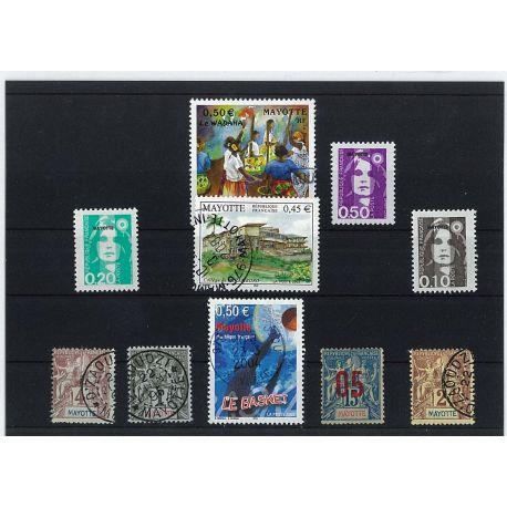 Collection de timbres Mayotte oblitérés
