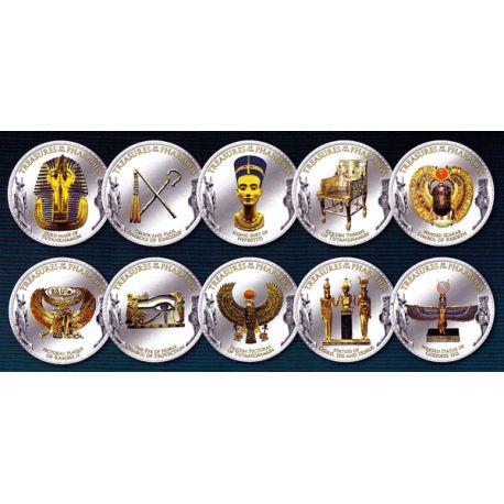 L'Empire des Pharaons Coffret 10 pièces émaillées
