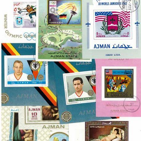 Ajman Collection de Blocs-Feuillets oblitérés