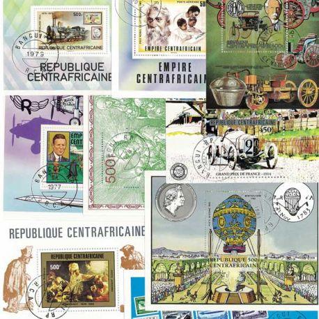 Centrafrique Collection de Blocs-Feuillets oblitérés