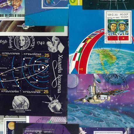 Collection de blocs Cosmos oblitérés