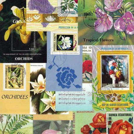 Collection de blocs Fleurs oblitérés