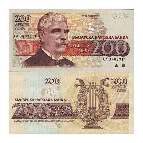 Billets de banque Bulgarie Pk N° 103 - 200 Leva