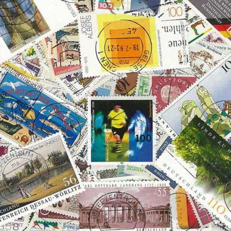 Deutschland RFA - 100 verschiedene Briefmarken