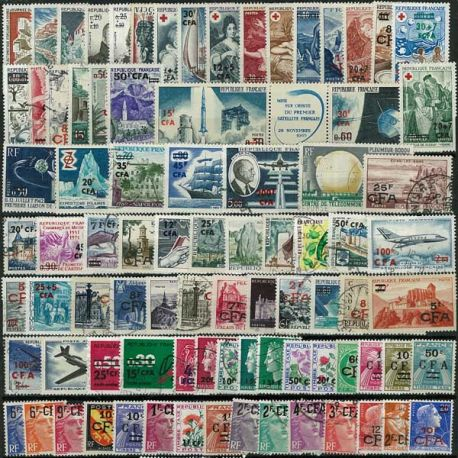 Collection de timbres France oblitérés CFA