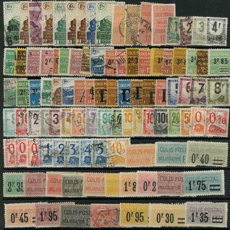 Collection de timbres France oblitérés Colis Postaux