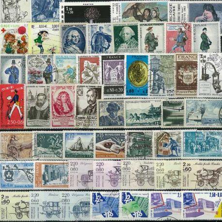 Collection de timbres France oblitérés Journee Du Timbre